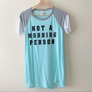 PINK Victoria's Secret Not A Morning Person shirt